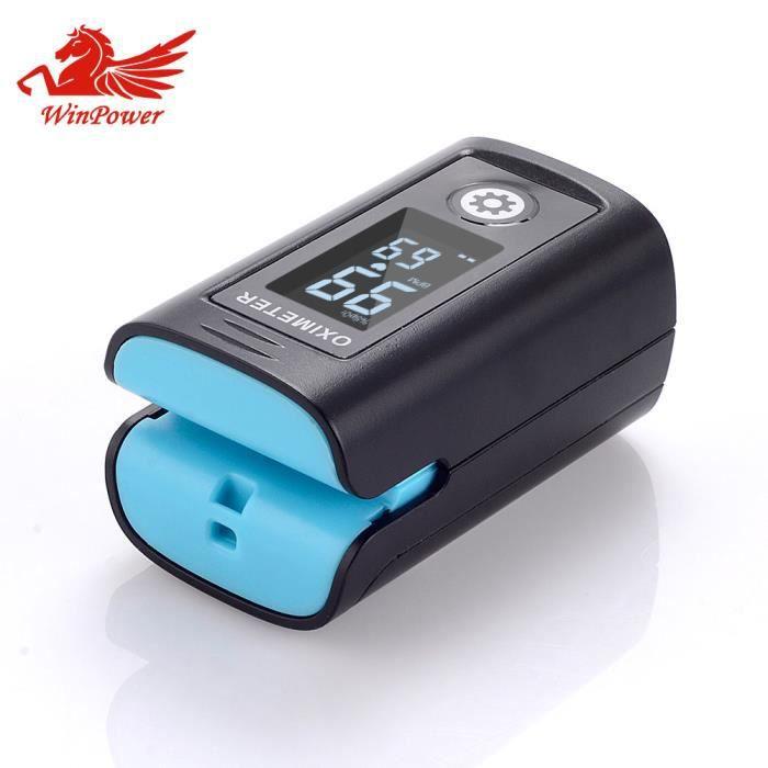 Oxymètre de Pouls Winpower Professionnel à Lecture Instantanée de Saturation Oxygène Alarme Fréquence Cardiaque Portable Écran LCD