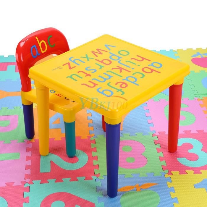 Ensemble De Table Et Chaise Denfant Alphabet E