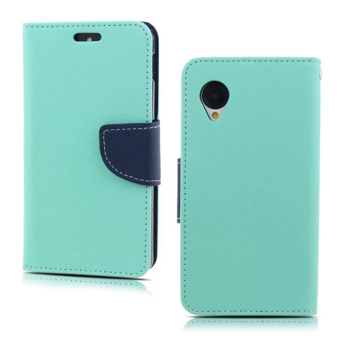 feu vert encre bleu housse pour lg google nexus 5 e980 porte monnaie en cuir pu etui stand. Black Bedroom Furniture Sets. Home Design Ideas