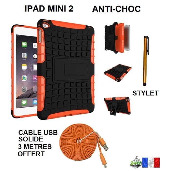 coque housse tui orange protection antichoc compatible ipad mini 2 solide id al enfant anti. Black Bedroom Furniture Sets. Home Design Ideas