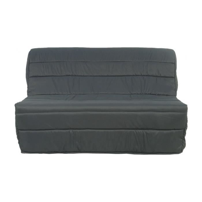 banquette bz tissu gris matelas 140x190 sofaflex mousse. Black Bedroom Furniture Sets. Home Design Ideas