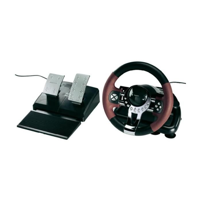 volant racing wheel thunder v5 hama pour ps3 achat vente volant console volant racing wheel. Black Bedroom Furniture Sets. Home Design Ideas