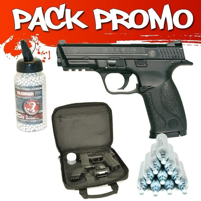 pack pistolet smith et wesson mp40 co2 1 joule prix pas cher cdiscount. Black Bedroom Furniture Sets. Home Design Ideas