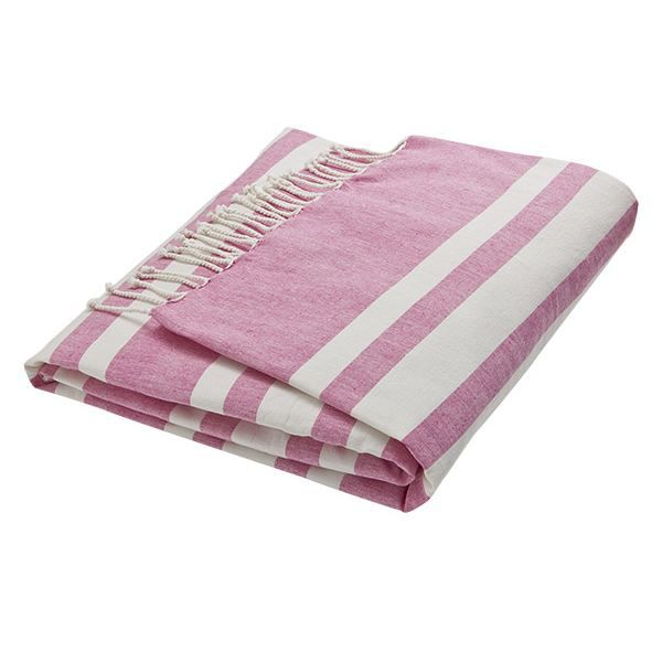 serviette de plage fouta rose 100x200cm style achat vente serviette de plage fouta ro. Black Bedroom Furniture Sets. Home Design Ideas