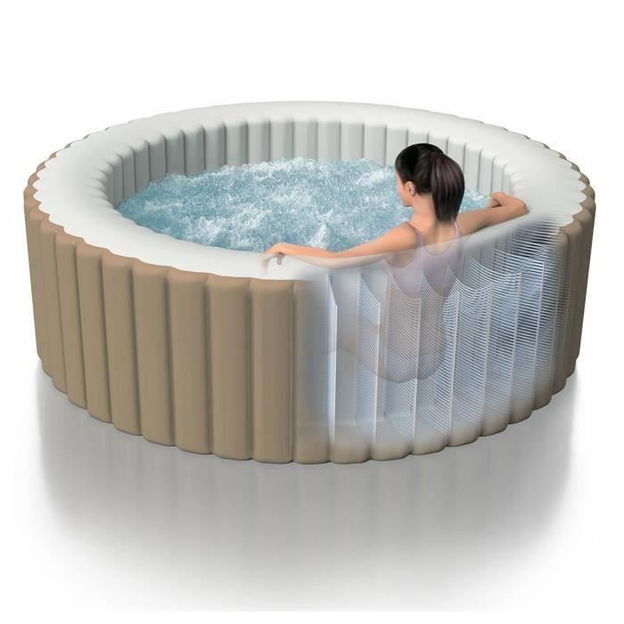 spa gonflable intex rond bulles achat vente spa. Black Bedroom Furniture Sets. Home Design Ideas