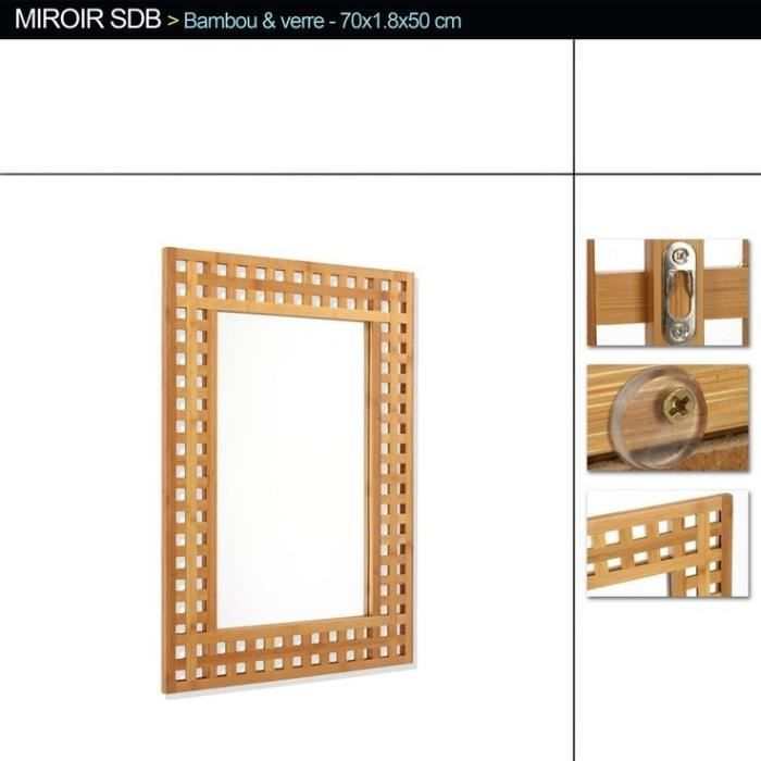 miroir salle de bain cadre en bois gascity for. Black Bedroom Furniture Sets. Home Design Ideas