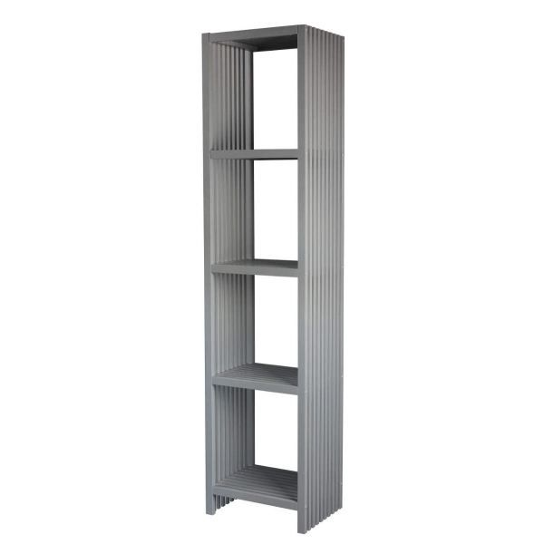 etagere 4 cases de la collection luxe gris achat vente. Black Bedroom Furniture Sets. Home Design Ideas