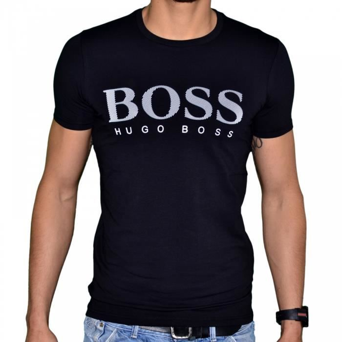 Hugo boss t shirt manches cour noir achat vente t for Hugo boss t shirts amazon