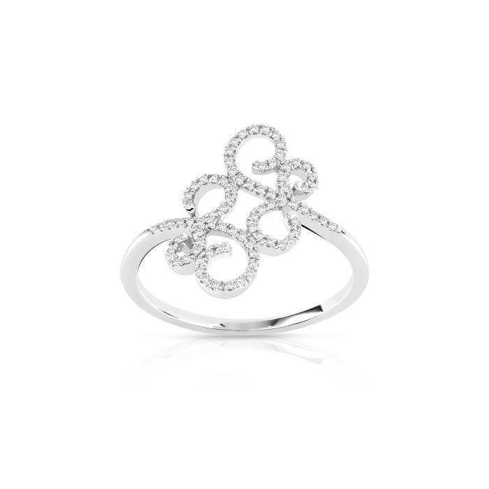 bague or 750 blanc diamant