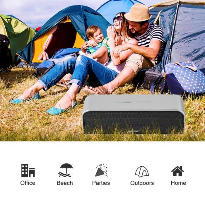 ENCEINTE NOMADE Haut-parleur bluetooth v4.0 sans fil stéréo musiqu