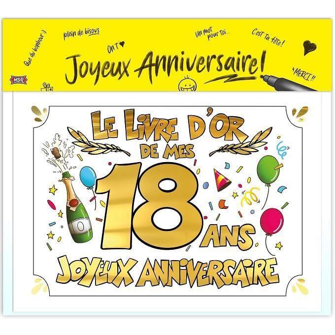 R Ldor01 1 Livre D Or Anniversaire 18ans Or Multicolore