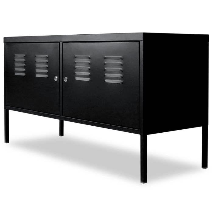 MEUBLE TV vidaXL Meuble de téléviseur 118 x 40 x 60 cm Noir