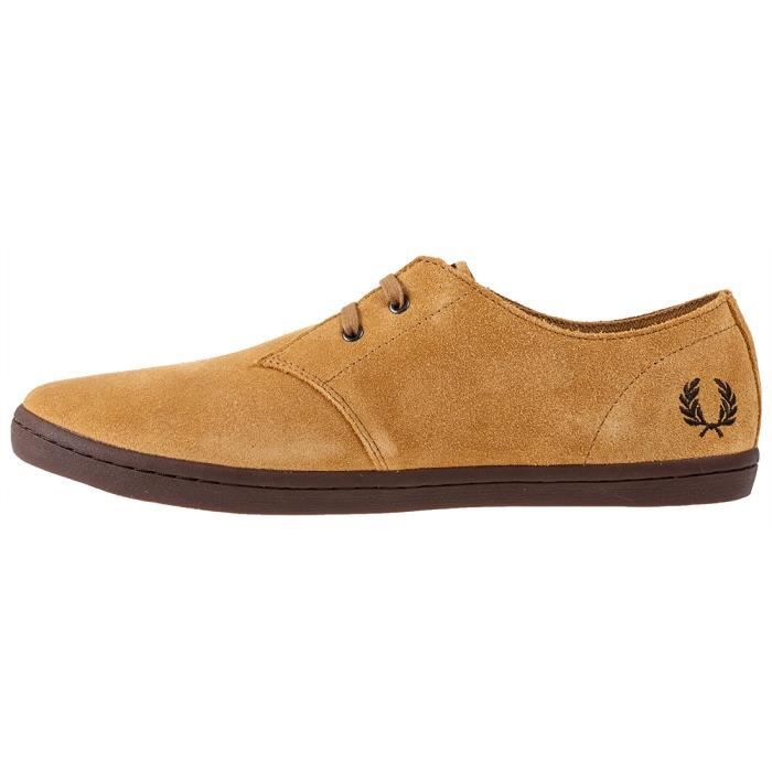 Fred Perry Byron Low Hommes Baskets Moutarde - 9 UK