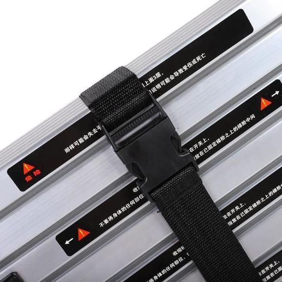 /Échelles /Échelle pliante polyvalente en aluminium capacit/é de 150 kg m/énage /échelle 3//4//5 marches poids l/éger antid/érapante escabeau Color : 5 Step Ladder