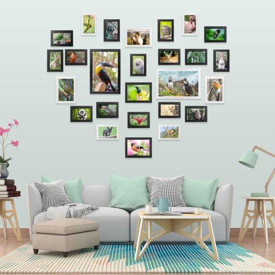 Yorbay Cadre Photo en Grand Format 26 Photos Set Blanc et Noir