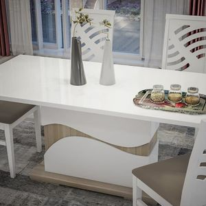 Table a manger laque blanc