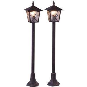 LAMPE DE JARDIN  2 x lampadaire extérieur lanterne aluminium allée