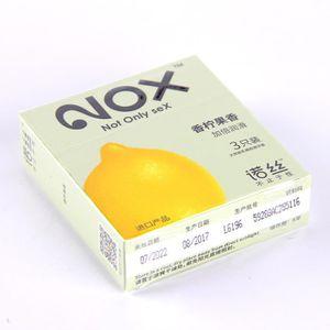 GAINE 3 Pcs Préservatif aux fruits de citron GAINE DE PE
