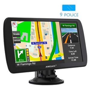 TABLETTE TACTILE AWESAFE 9 Pouce GPS Automatique de Voiture 8GB App