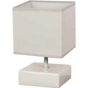 LAMPE A POSER KARE Lampe rectangulaire en céramique - Ø14 x H.22