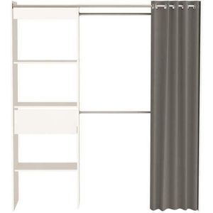 AMENAGEMENT DRESSING CHICAGO Kit dressing extensible contemporain blanc