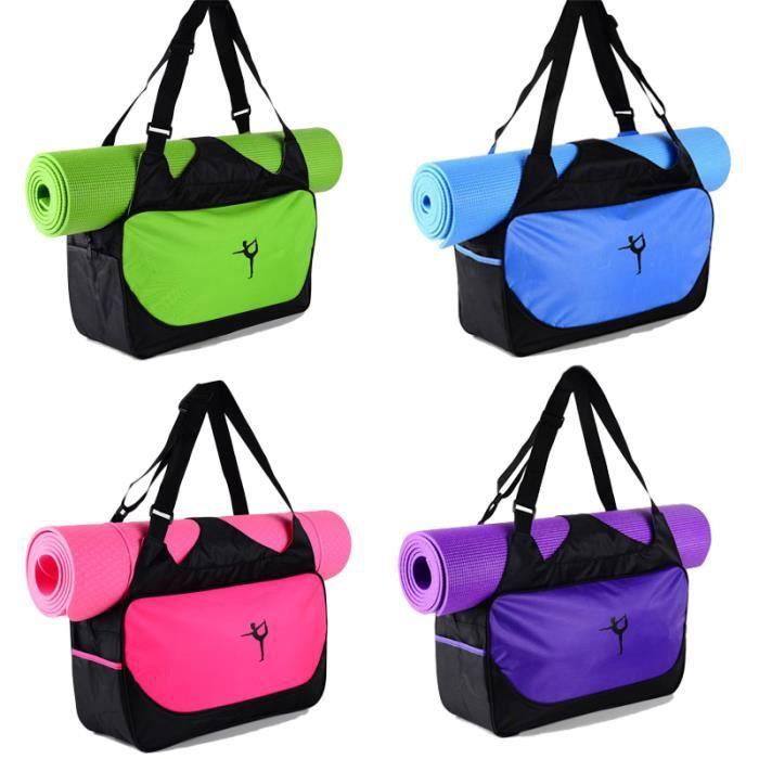 48*24*16cm haute capacité Yoga tapis sac à dos toile imperméable Yoga sac sport Fitness sacs (pas de tapis de Yoga) Bleu