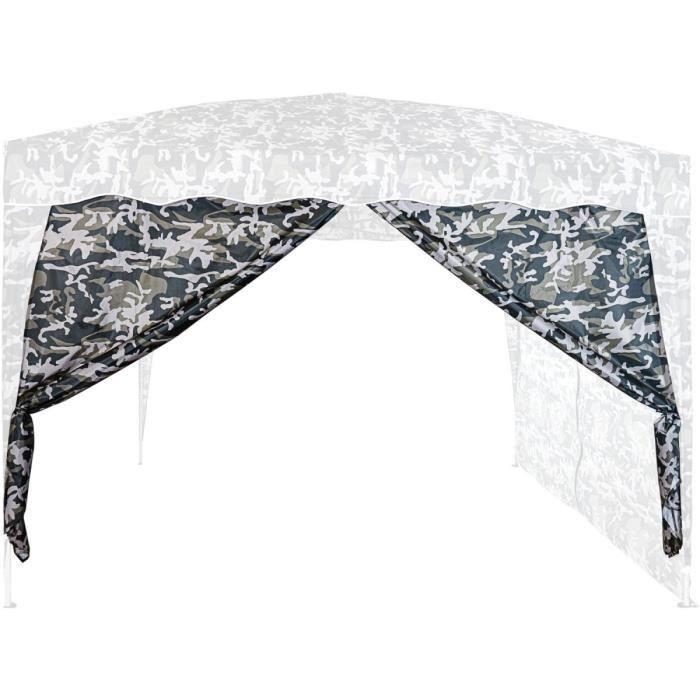 INSTENT Panneau latéral avec fermeture à glissière, couleur urban, pour tonnelles 3x3m