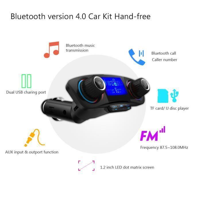KING Autoradio Voiture lecteur mp3 Transmetteur FM Bluetooth 4.0 Kit mains-libres de voiture Adaptateur Radio sans fil Lecteur de