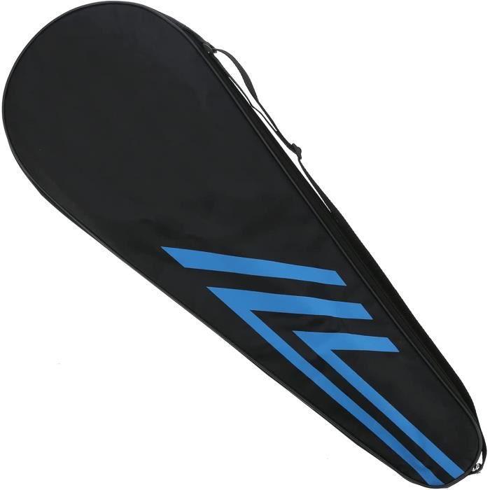 Raquettes de Badminton pour Adultes, Doubles Raquettes en Fibre de Carbone réutilisables-durables avec Sac attaché pour l'entraîneme