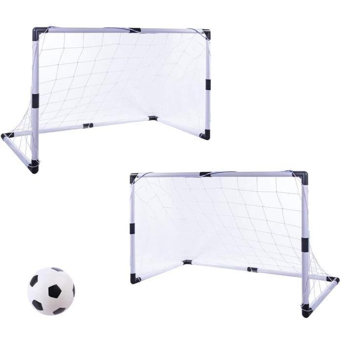 GODNECE 2 Pièces Buts de Foot Enfant Buts de Foot Jardin Buts de Football Pliable Cages de Foot Enfant6