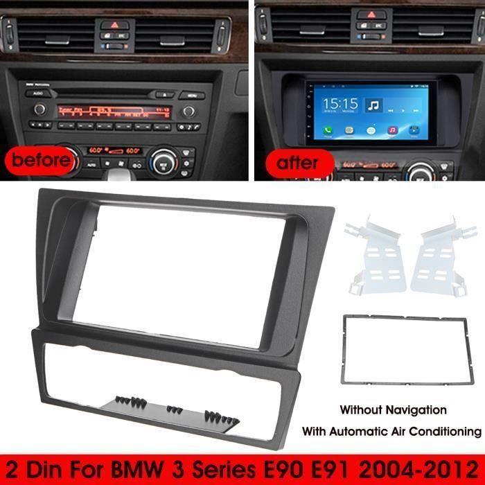 Kit Montage Adaptateur Cadre de Radio Façade Autoradio 2 DIN Pour BMW 3 Series E90 E91 2004-2012