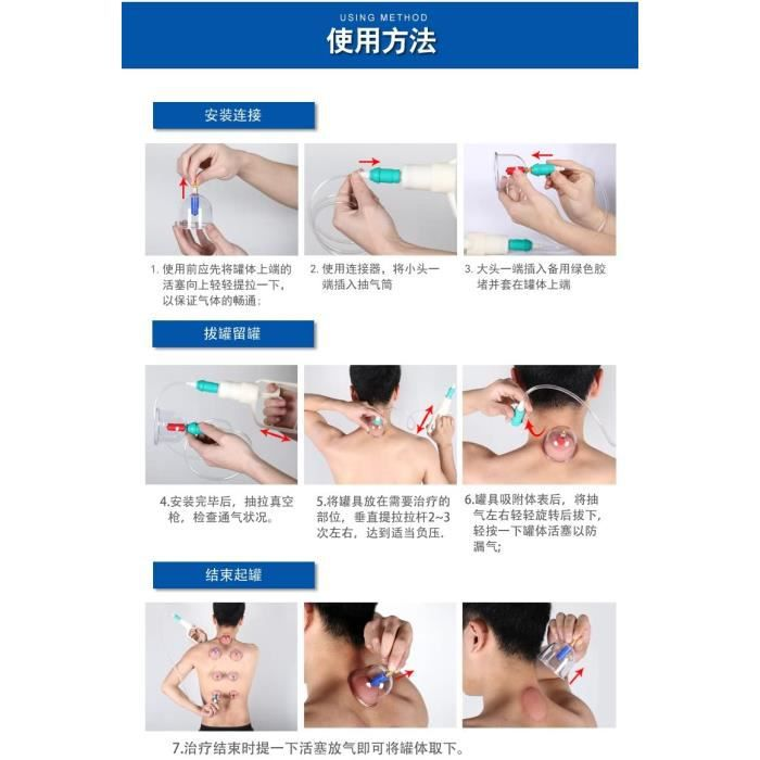 Accessoires de massage manuel Kangzhu Biomagnetic Chinese Cupping Therapy Set (24 CUPS) 178862