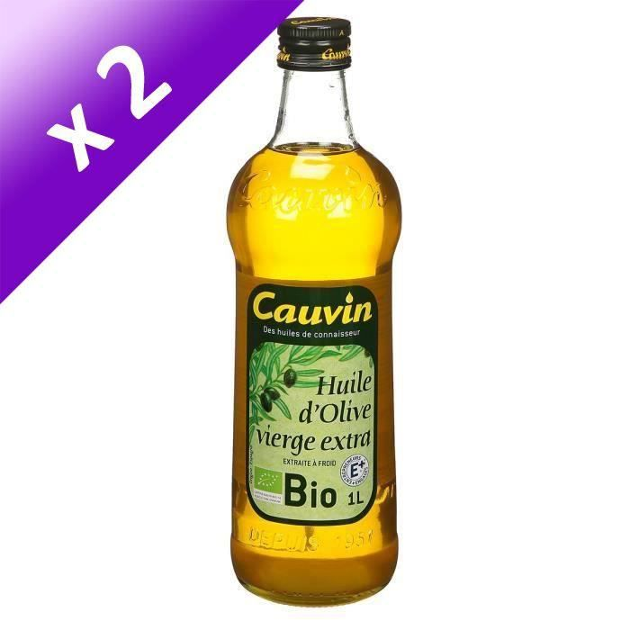 [LOT DE 2] CAUVIN Huile d'Olive Bio - 1 L