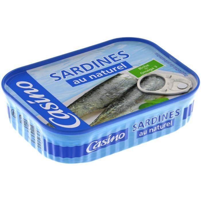 Sardines au naturel 135 g