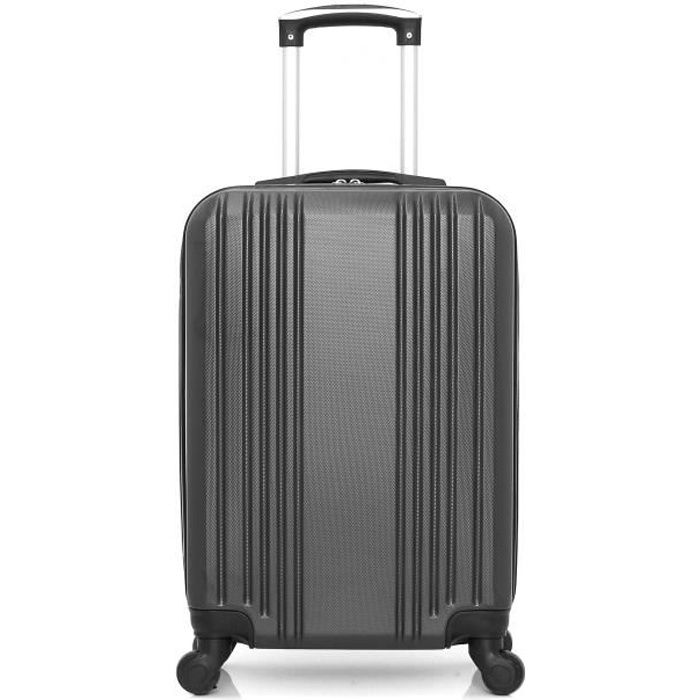 HERO – VALISE CABINE - ABS – 55cm – 4 roues – RIF – GRIS FONCE