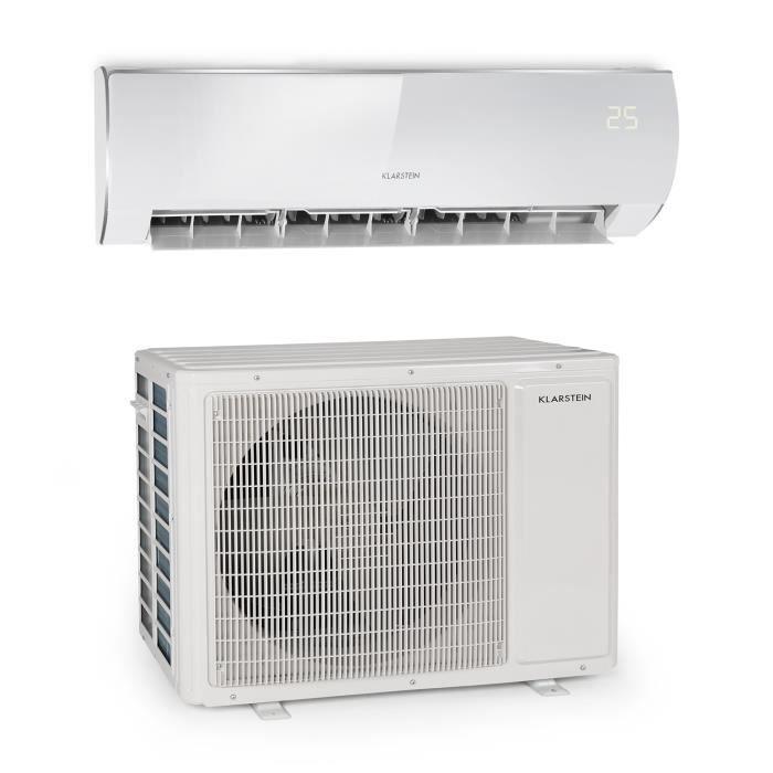 Klarstein Windwaker Eco Climatiseur split réversible - débit d´air 1250 m³/h - 24000 BTU/h (7032 W) - classe A++