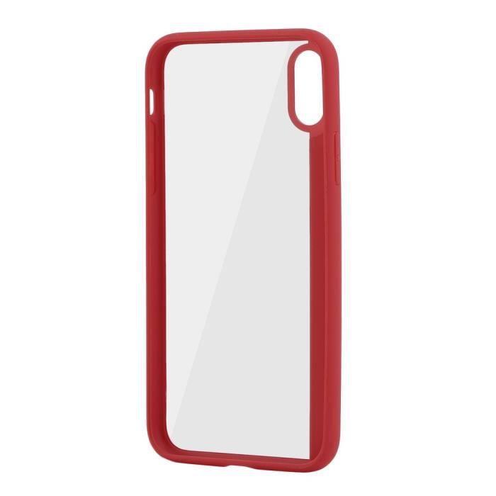 Acrylique + Tpu Coque Housse téléphone portable côté mobile pour Iphonex