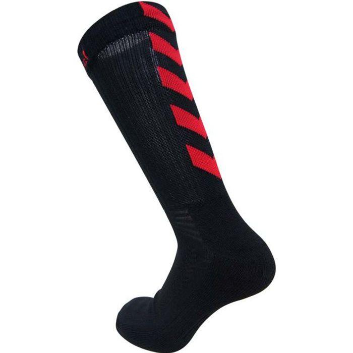 HUMMEL Chaussettes de Handball Authentic Indoor - Homme - Noir et Rouge