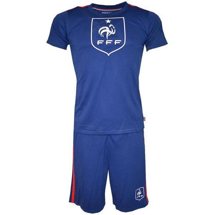 Licence FFF - Mini Kit Equipe de France FFF Officiel Bleu
