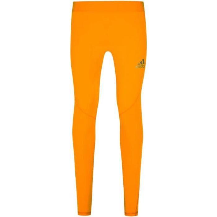 Collant orange homme Adidas Alphaskin