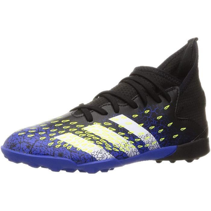 Adidas Predator Freak .3 Tf J, Chaussures de Football, Core Noir / Ftwr Blanc / Solar Jaune, 35 Eu