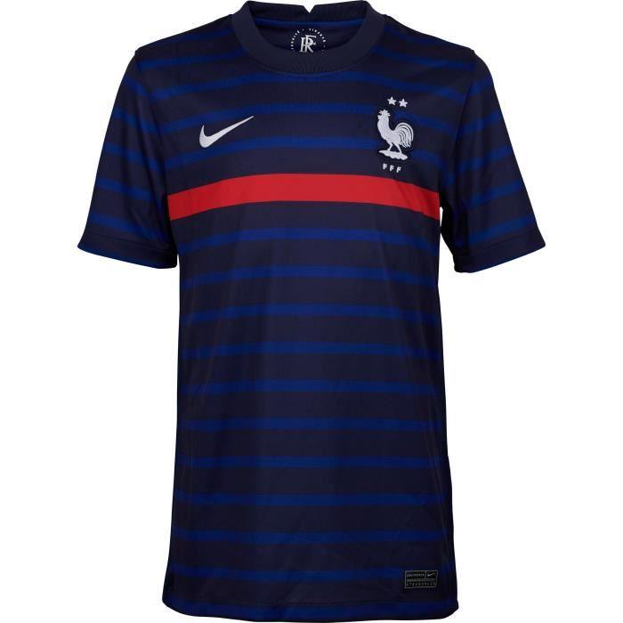 NIKE Maillot de Football FFF Domicile JR 20 - Garçon - Bleu