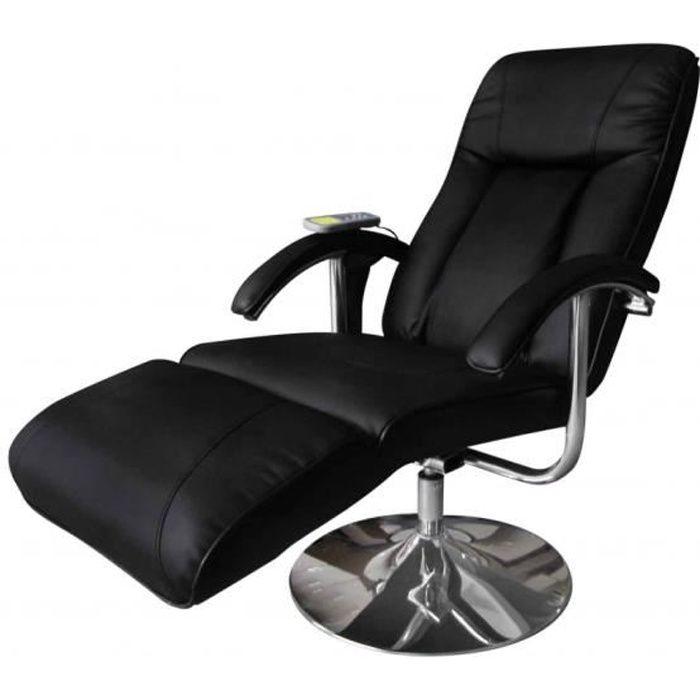 Fauteuil Relaxation Massage Relaxant Massant éLectrique Noir