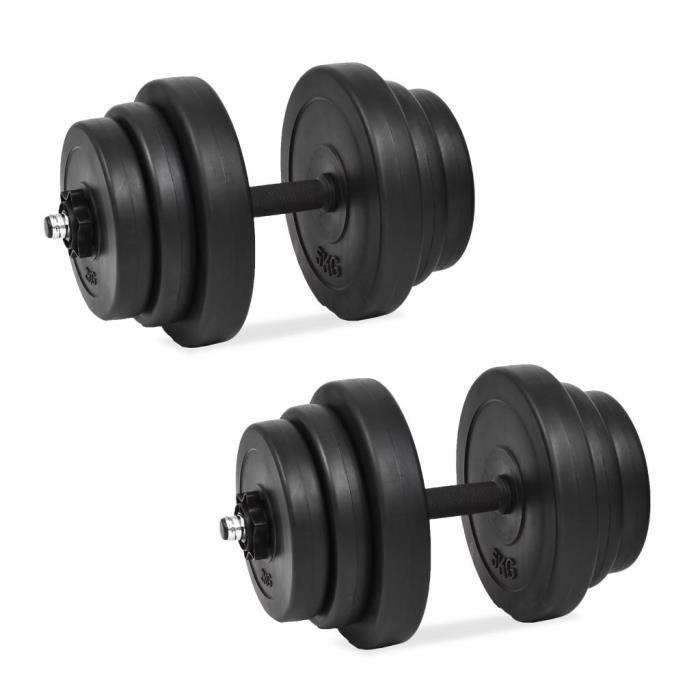 Magnifique-Ensemble d'haltères Kit haltères musculation Poids ajustable 18 pcs 40 kg
