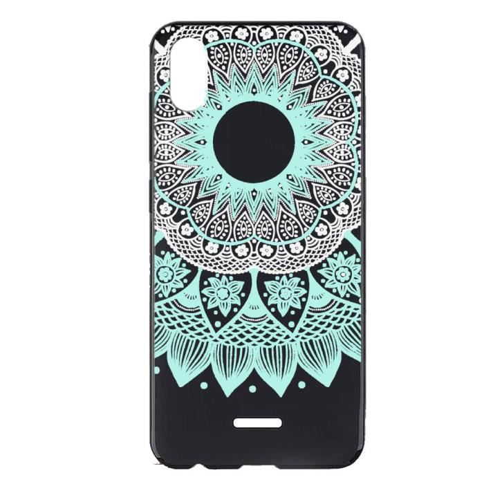 Coque Pour Wiko Y50-Wiko Sunny 4 Mandala blanc Mode Mince TPU Gel Silicone