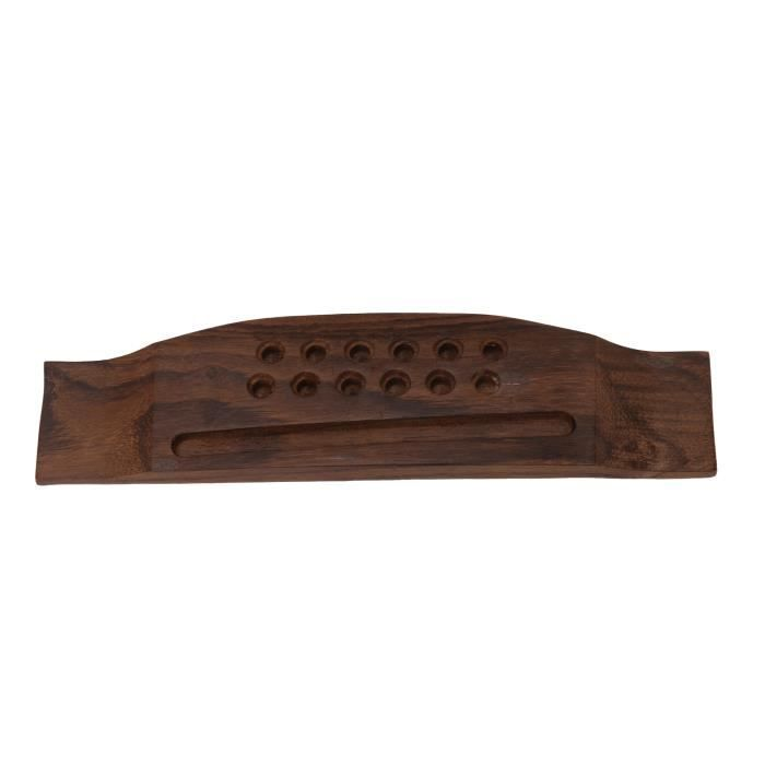 Selle professionnelle vintage 12 cordes guitare folk palissandre chevalet marron