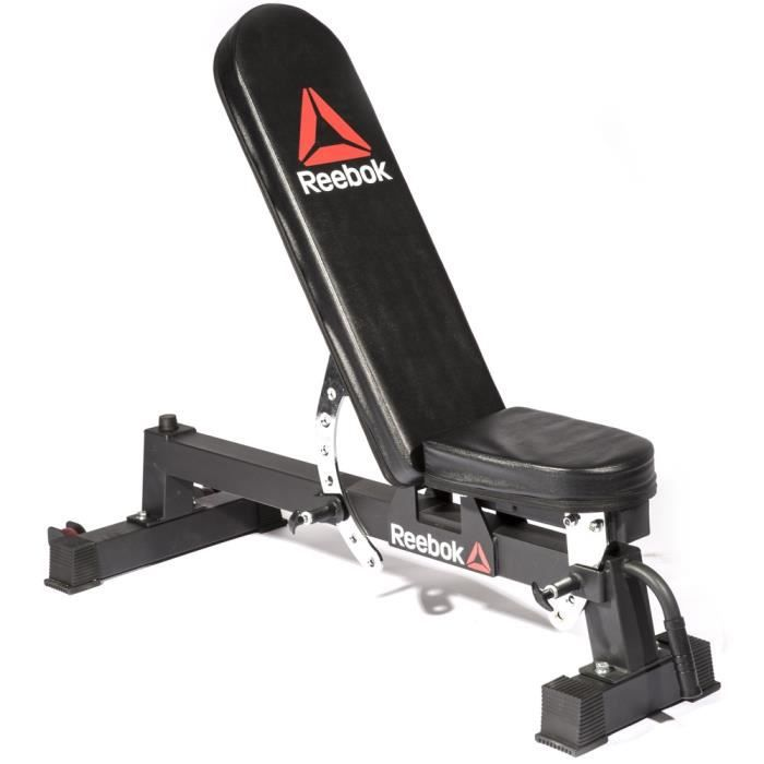 Banc de musculation multipositions Reebok - noir - TU Training