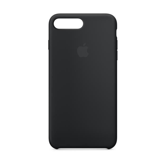 coque iphone 8 plus noir silicone