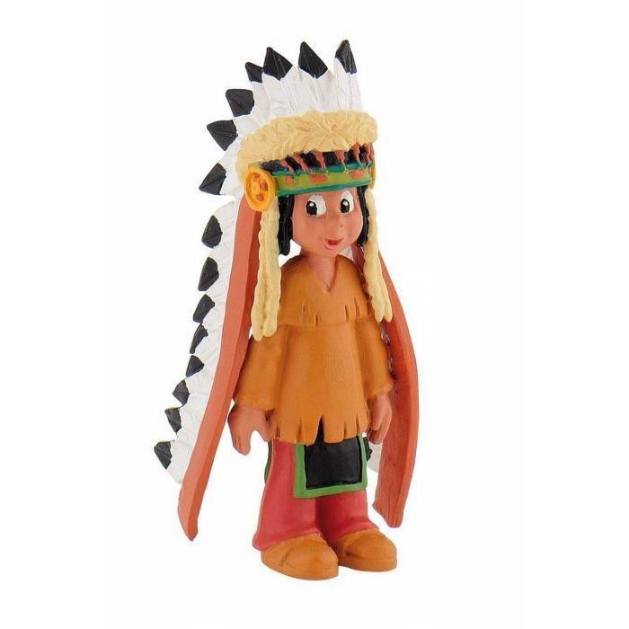 Figurine Yakari coiffe de plumes
