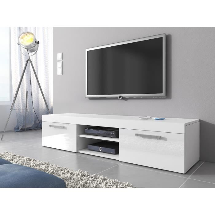 meuble tv mambo blanc 160 cm achat vente meuble tv meuble tv mambo blanc 160 c cdiscount. Black Bedroom Furniture Sets. Home Design Ideas